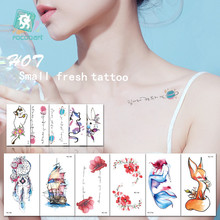 Latest Waterproof Temporary Tattoo Sticker Women Sex flash tatoo Dreamcatcher Mermaid Flower Fake Body