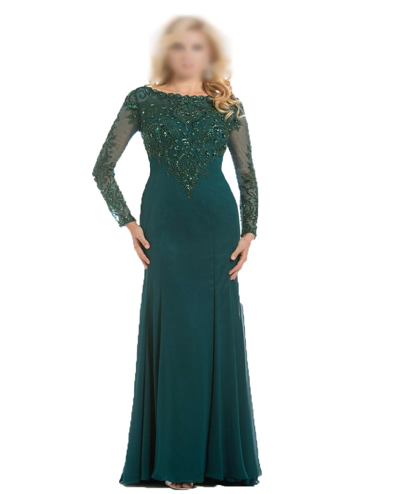 2016 Lace Mermaid Mother Of The Bride Dresses Groom: Long Sleeve 2016 Mother Dresses Mermaid Green Lace Long