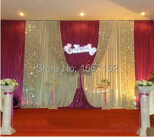Red Sequins wedding Backdrop Wholesale stage decoration wedding supplies 10ft*20ft Stage Backdrop