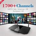 Q1504 Caixa de TV inteligente Android Tv Box Com 1 Ano Iudtv IPTV Full Europa África América 1700 Canais de IPTV Árabe Itália Alemanha caixa