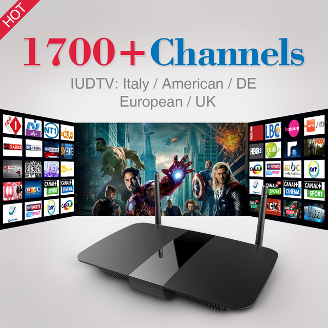 Smart TV Box Q1504 Android Tv Box With 1 Year Iudtv IPTV Full Europe Arabic Italy Germany Africa America 1700 Channels IPTV Box