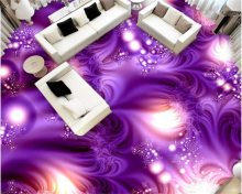 Abstract pattern beautiful purple 3D floor tiles bathroom kitchen bedroom floor painting waterproof self-adhesive wallpaper pape