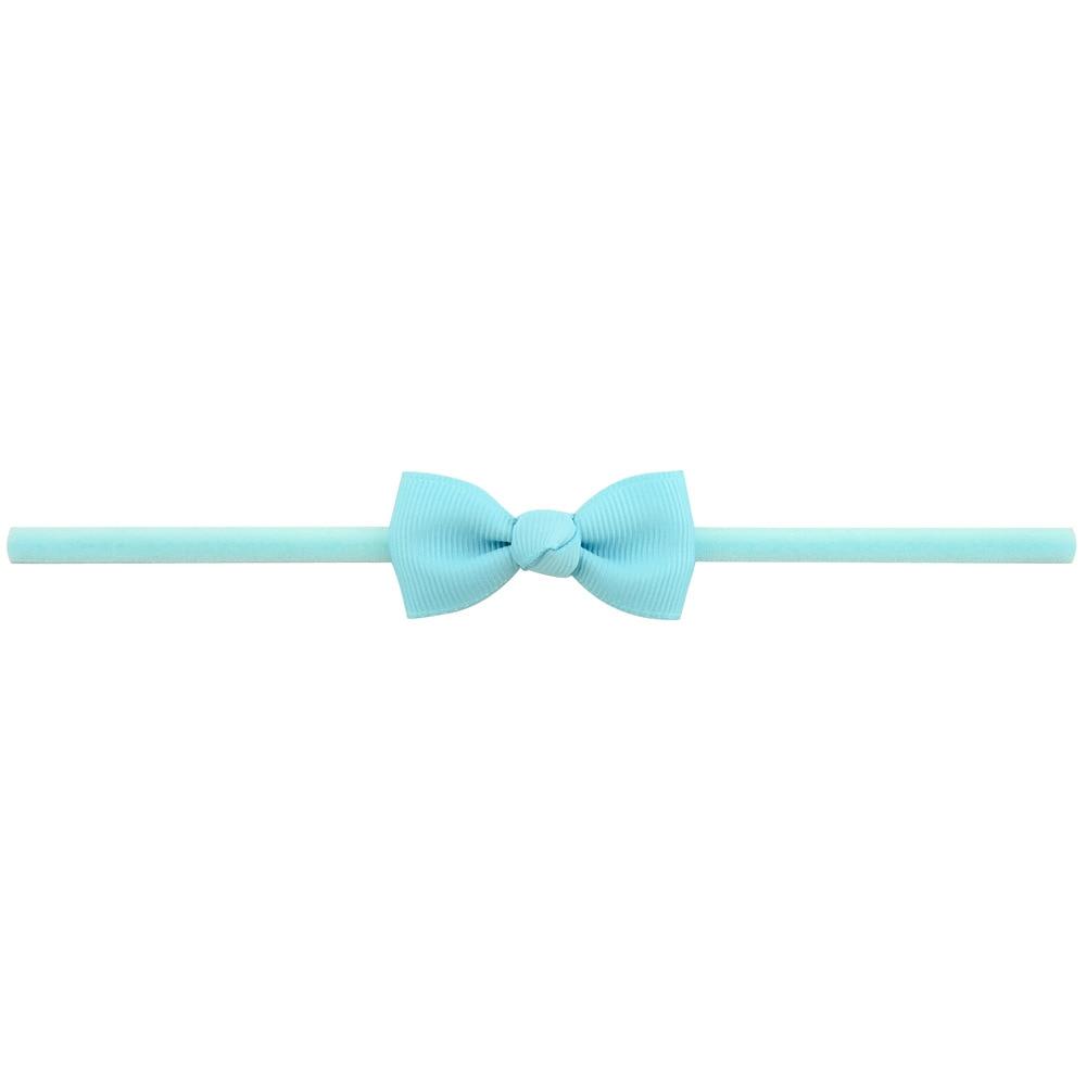 Повязка на голову для маленьких девочек; аксессуары для волос для младенцев; тканевый галстук с бантом; головной убор; Тиара; подарок для малышей; повязка на голову с лентой для новорожденных - Цвет: 7