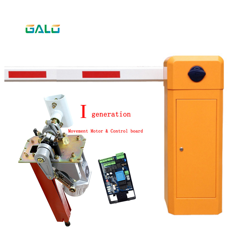 Arm Automatic Barrier Gate For Car Parking Management 2.0mm Thickness With Brushless DC Motor Vehicle Boom Barrier Gate Parking