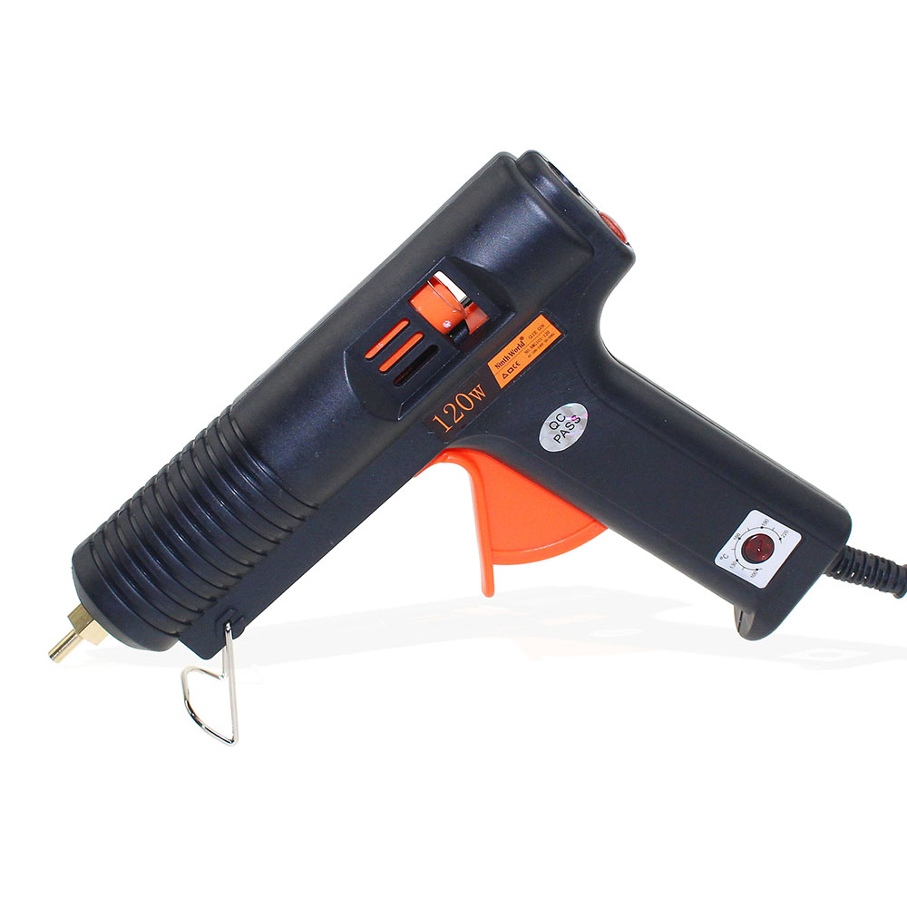 120W 11mm Adhesive Thermo Hot Melt Glue Gun Handy Heater Temperature Control Industrial Thermo Gluegun Repair With Glue Stick 1pc glue pot 100g italian keratin glue keratin glue bead hot pot glue stove temperature control hair extension styling tools