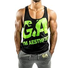 Summer fashion vest Golds gyms Brand singlet canotte bodybuilding stringer tank top men fitness vests muscle guys sleeveless