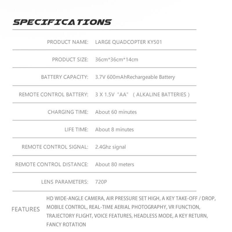 KY601S Профессиональный Дрон для камеры 1080p WiFi FPV HD щетка Пропеллер для мотора длинная батарея воздушный складной Квадрокоптер Дрон - 6