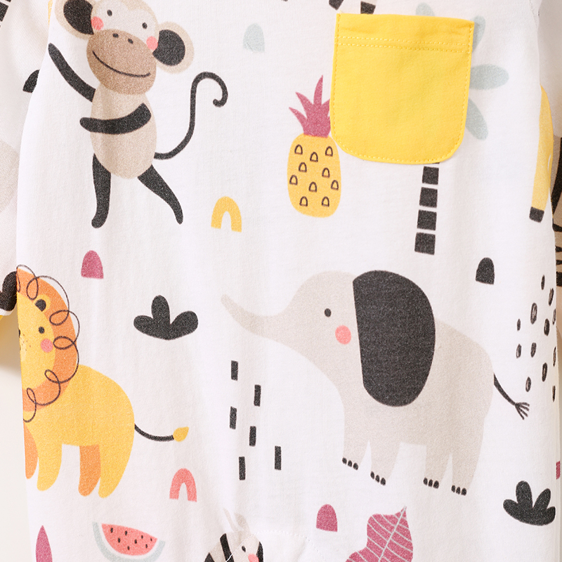 YiErYing High Quality Baby Rompers Newborn Soft Cotton Clothing Infant Jumpsuit Baby Cartoon Costumes Pajamas in Rompers from Mother Kids