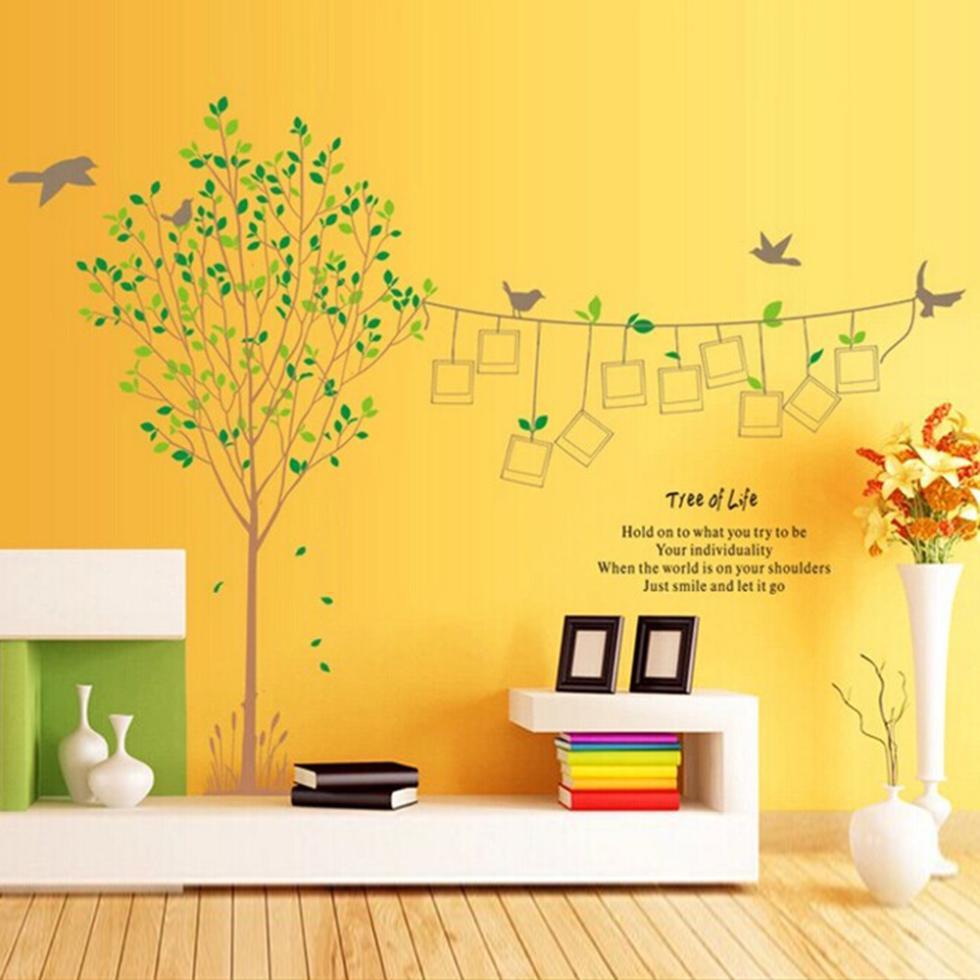 DIY XXL 2pcs Photo Frame Tree Vinyl Wall Decals for Living Room ...