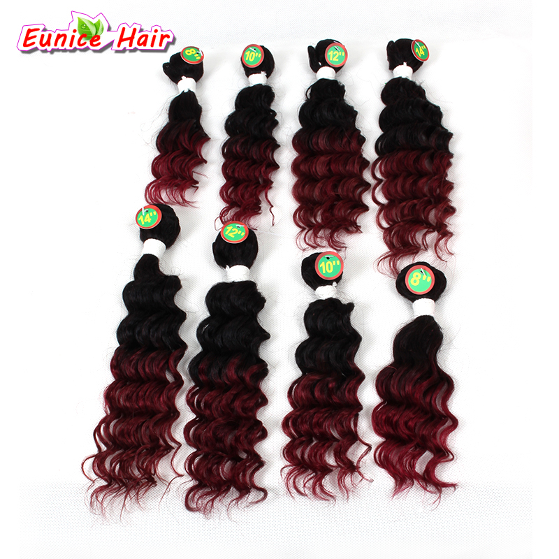 Full head 8pcs/pack Brazilian hair weave bundles kinky curly deep wave hair extension Unprocessed virgin brazilian deep curly