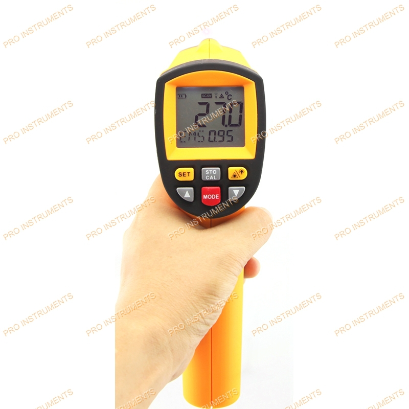 gun type industrial infrared thermometer 50:1 Emissivity:0.1~1.00 GM1150A tes 1326s industrial infrared thermometer 35 500c