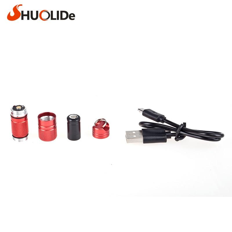 USB recargable impermeable ligero de aleación de aluminio super mini - Iluminación portatil - foto 4