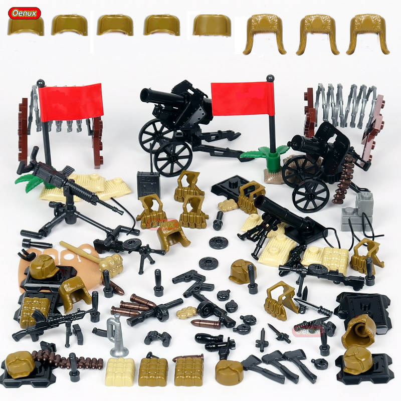 Oenux nouvelle guerre mondiale 2 Mini chinois huitième Route armée soldats WW2 sino-japonais scène de guerre militaire bloc de construction brique enfants jouet