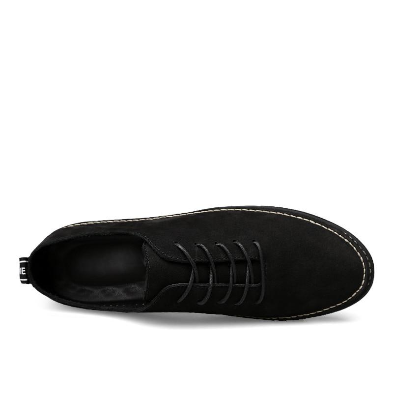 Купить с кэшбэком CLAX Men Spring Shoe 2018 Genuine Leather Shoes for Male Fashion Casual Footwear British Flats Walking Shoe Soft Comfortable