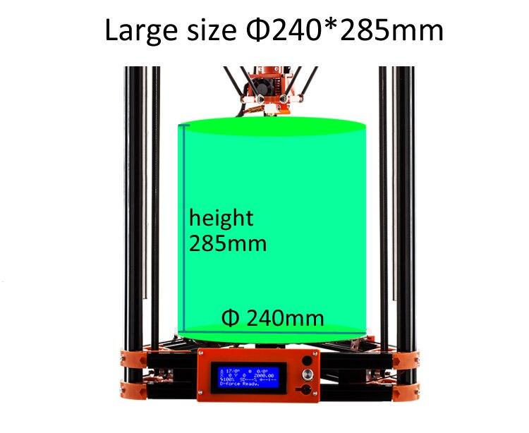 FLSUN Delta 3D Imprimante, grande Taille D'impression 240*285mm 3d-Printer Poulie Version Linéaire Guide Kossel Grande Taille D'impression auto-nivellement - 4