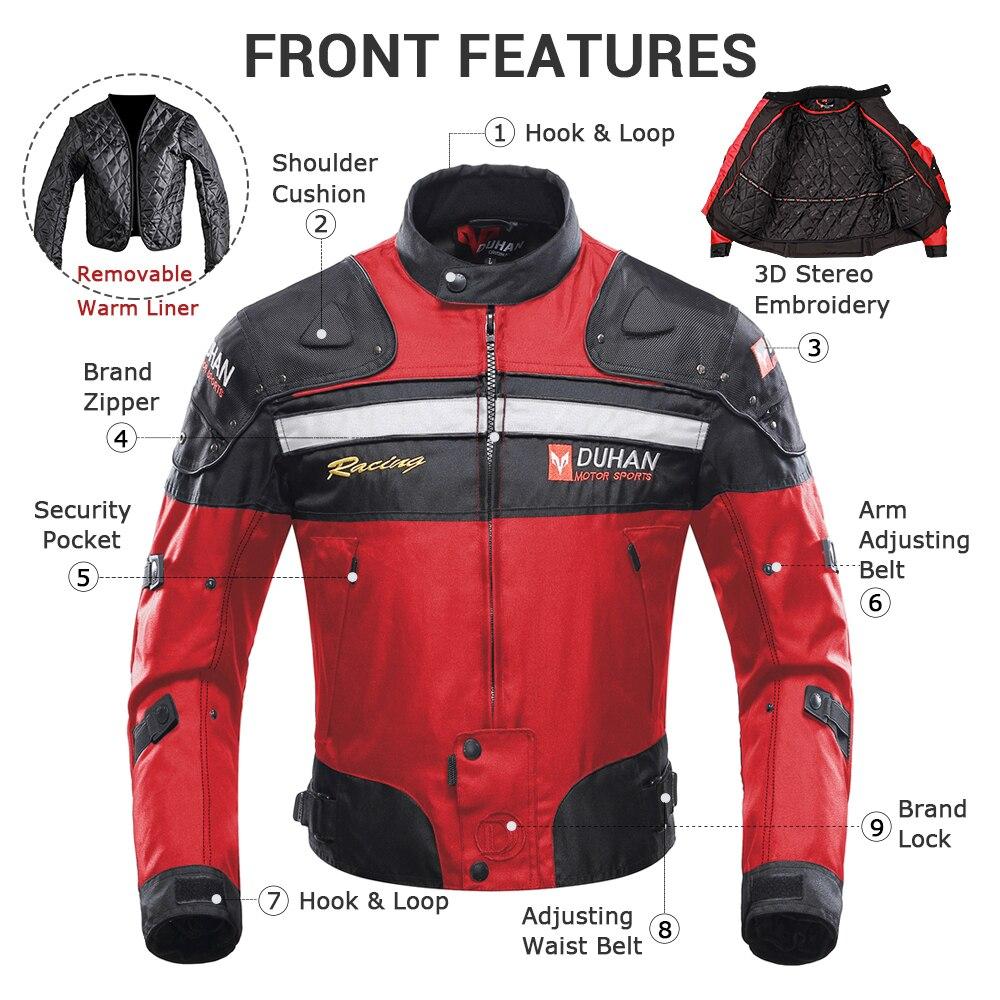 DUHAN Motorjas Motor Racing Motor Moto Winddicht Herfst Winter - Motoraccessoires en onderdelen - Foto 2