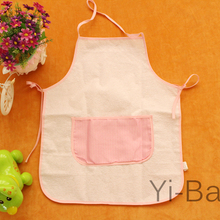 YB0034-01 Waterproof Children kitchen apron Check 12PCS/Set