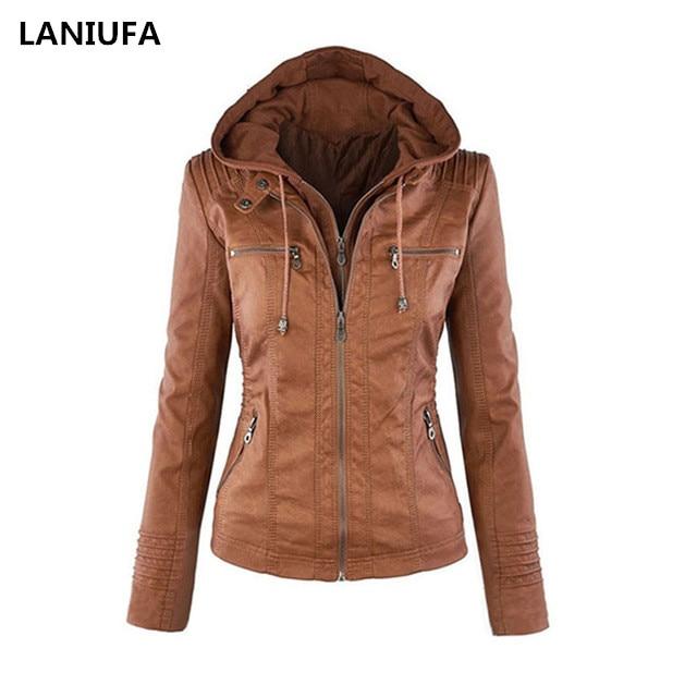 Frauen Faux PU Leder Jacken Frauen Zipper Motorrad Mantel Frauen Herbst Winter warme Oberbekleidung Zipper Jacken mujer mantel frauen