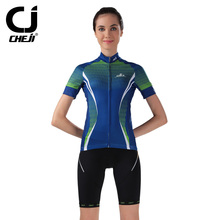 CHEJI Summer Female Fitness Wear Cycling Clothing Women Sport Jersey Short Sleeved cycling Sets