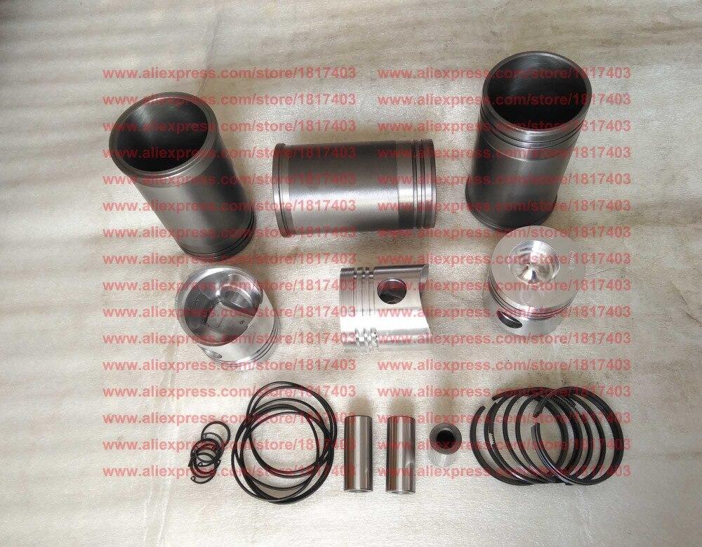 LL380B Piston Cylinder sleeve Piston ring Piston pin Water seal ring Circlip Laidong LL380B engine parts
