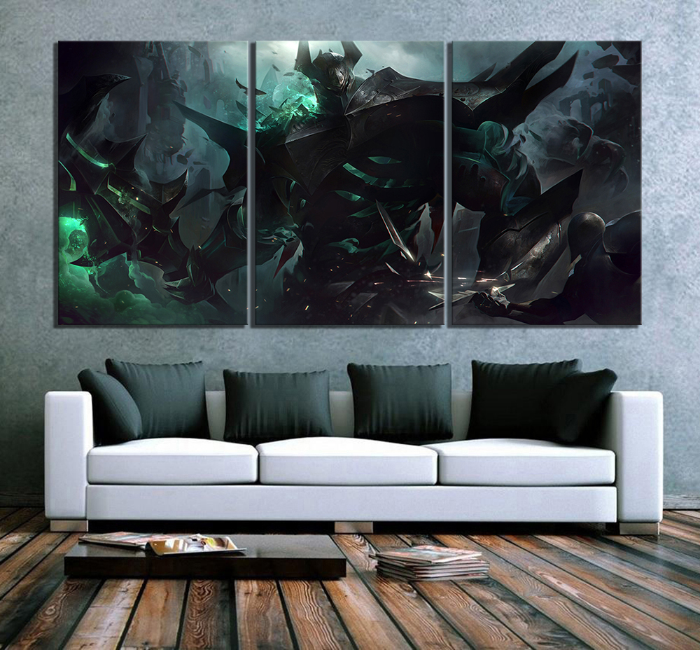 3 Pieces The Iron Revenant Mordekaiser League of Legends Game Poster Paintings LOL Games Art Wall Paintings for Home Decor 2