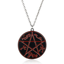 New Arrival Jewelry around Supernatural Necklaces Pentagram Pentacle Devil's Trap Logo Rune Pendants&Necklace Colar for Man(China)