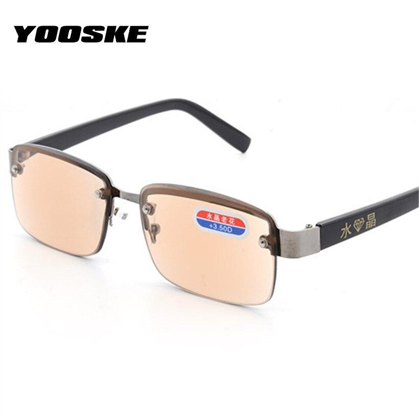 Men's Glasses Men's Reading Glasses Yooske Rimless Classic Style Glass Lenses Reading Glasses Plain Mirror Men Women Unisex Eyewear Pretty And Colorful