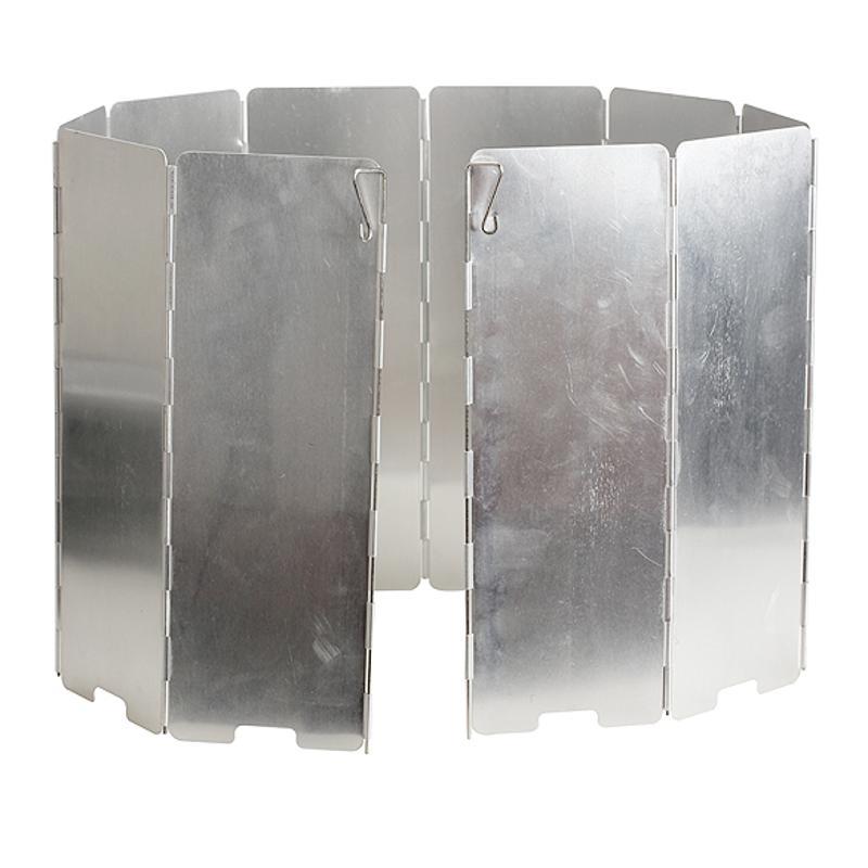 10 placas Escudo del viento Fold Camping cocina estufa de Gas Pantalla de viento plegable al aire libre viento de aluminio pantalla