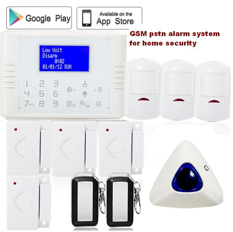 Slovakia Turkish French Russian touch screen wireless home burglar pstn gsm alarm system security wireless indoor strobe siren wireless smoke fire detector for wireless for touch keypad panel wifi gsm home security burglar voice alarm system