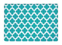 Floor Mat Turquoise Quatrefoil Clover Diamonds GeometryPrint Non-slip Rugs Carpets alfombra For Indoor Outdoor living room