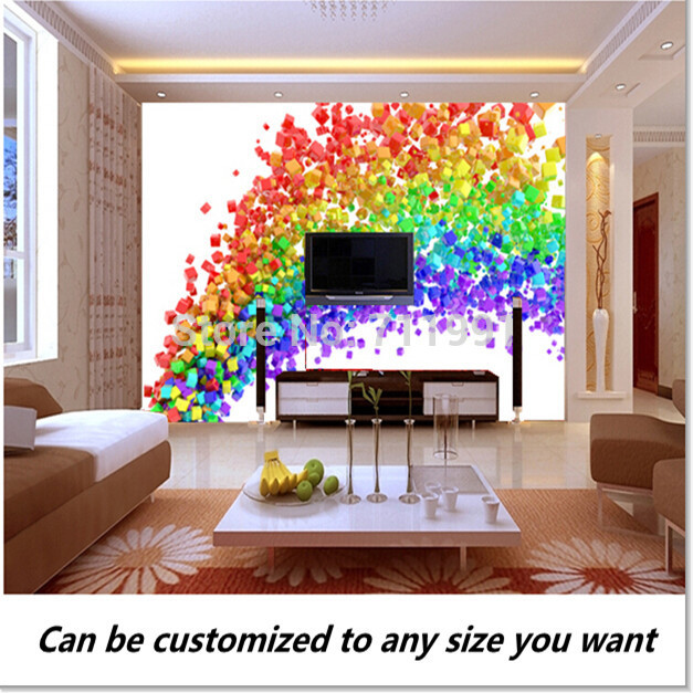 Free Shipping Custom 3D Rainbow Flow Wall Mural Wallpaper TV Mural Bedroom  Sofa Backdrop Wallpaper Part 42