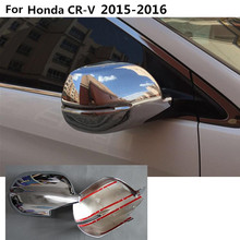 car styling decoration back rear view Rearview Side Door Mirror Cover stick trim frame 2pcs For Honda CRV 2015 2016