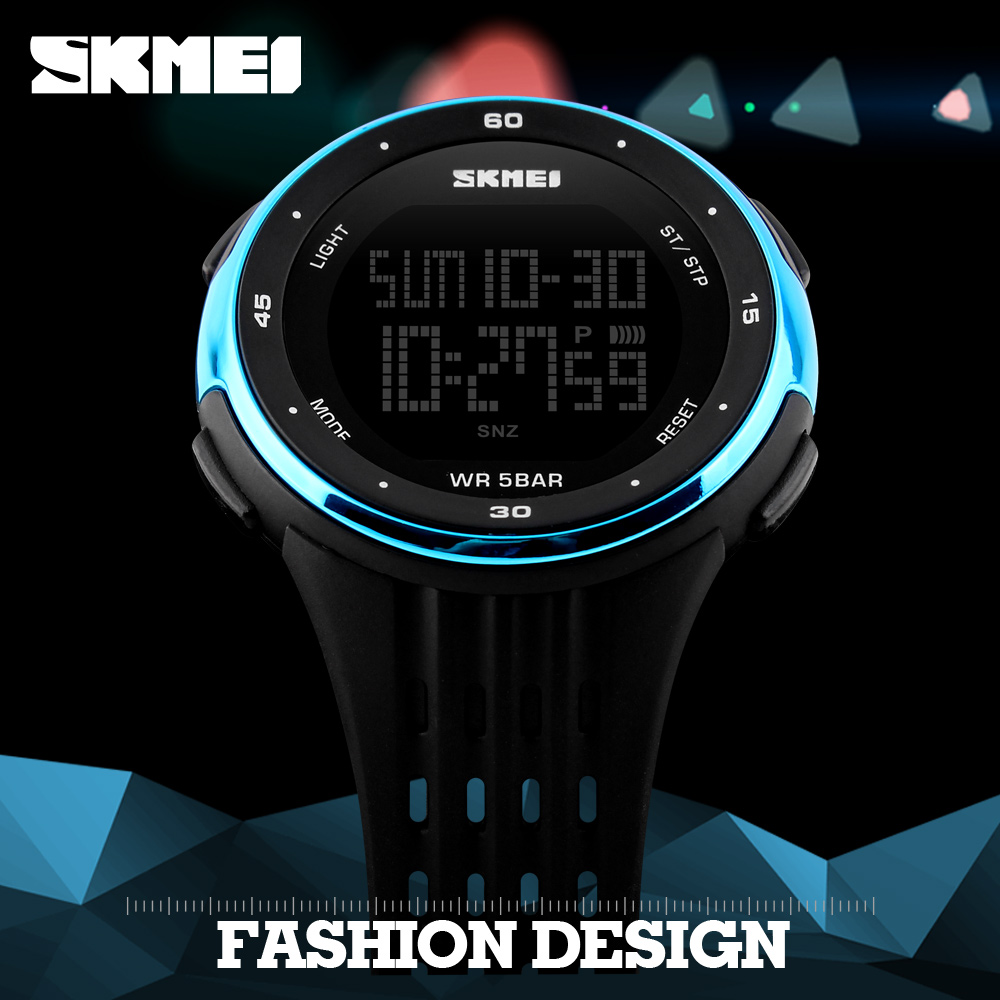 SKMEI Heren Buitensporten Horloges Waterdicht Digitaal LED Militair Horloge Heren Merk Mode Casual Elektronica Luxe Horloges