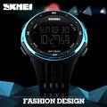 Skmei hombres relojes deportes al aire libre impermeable electrónica digital led reloj militar hombres marca moda casual relojes de pulsera de lujo