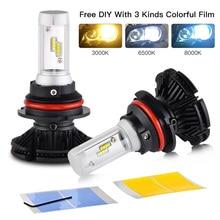 цена на H7 Bevinsee Car Headlight Foglight Bulbs Hi/Low Beam H1 H3 H4 H7 H8 H13 9004 9005 9006 9007 9012 car Single Beam led Lamp Kit