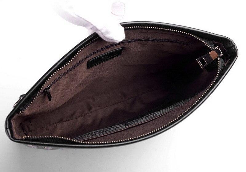 Мужской кожаный мужской кошелек из натуральной кожи Длинный кошелек мульти держатель карты кожаный мягкий клатч из натуральной кожи - 3