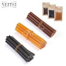 Neitsi 12pc / pack 7.8mm * 100мм Hotmelt кератинді желім таяқшалары Жоғары сапалы еріту ыстық щетка желім стилі Қара қоңыр қоңыр түсі