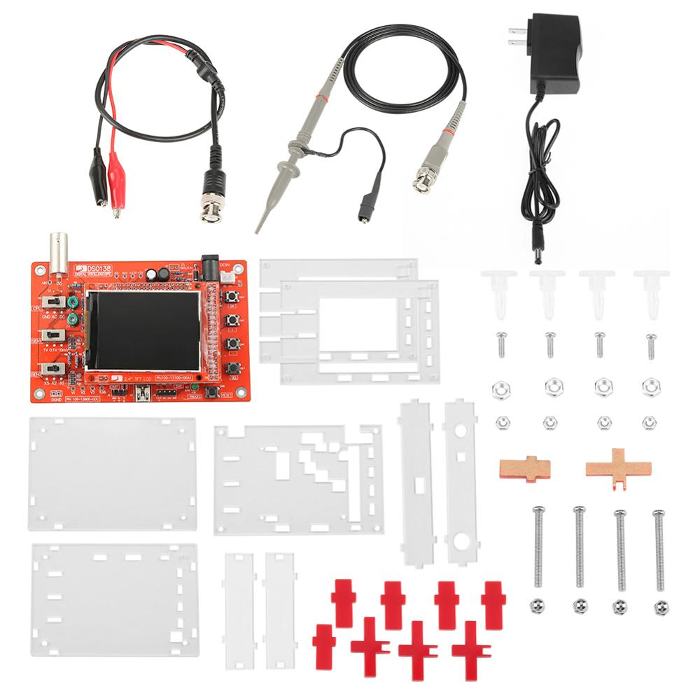 2 4 TFT 1Msps Digital Oscilloscope Board Kit with Probe and Charge US Plug