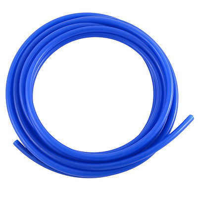 Industrial Air Compressor PU Flexible Pneumatic Tube Hose Pipe Blue 4.9M Long Free shipping air compressor 1 2bsp 2 way hose pipe inline manifold block splitter teal blue