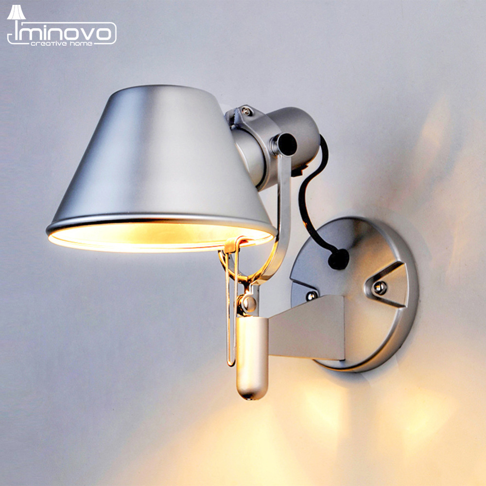 Modern wall lights for living room - Iminovo Fashion Wall Lamp Warm Light For Living Room Bedside Lamps E27 Led Lights 110v 220v Modern Home Lighting