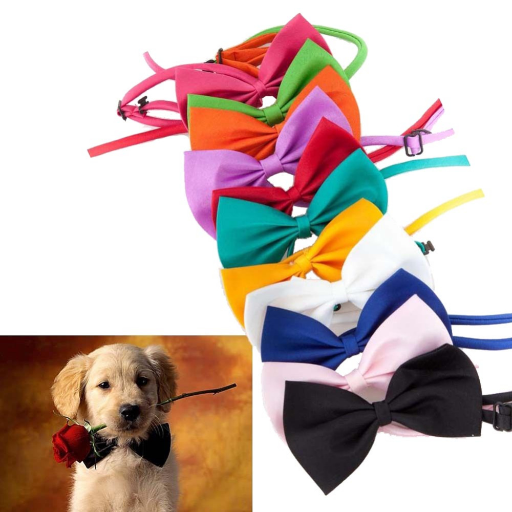 Gentleman Dog Cat Puppy Neckties Animal Suit and Tie Kitten Cats Toy Pets Bowknots Hound Pet Pup Bow Tie Children Kid Bow Toys