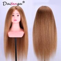 Манекен головы волосы 85% реальные Человеческие волосы манекен Парикмахерские головы куклы косметологии манекен головы Для женщин парикмах