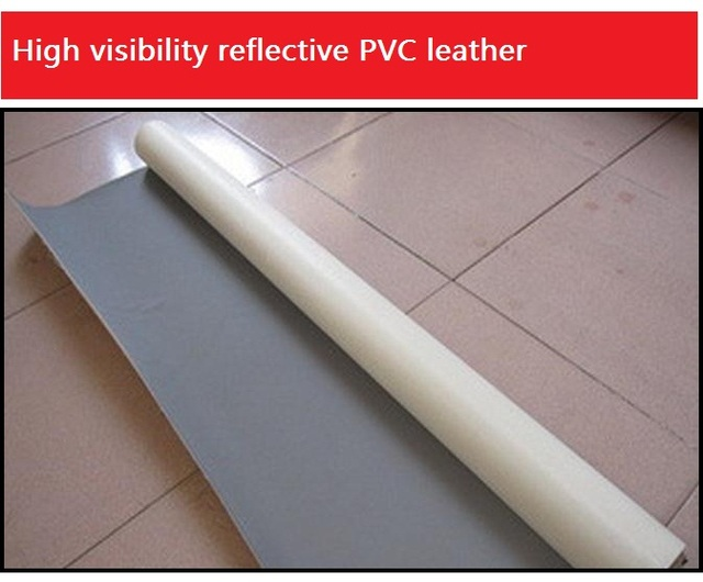 High light reflective woven PVC finished leather reftective leather fabric  Shoes clothing accessories
