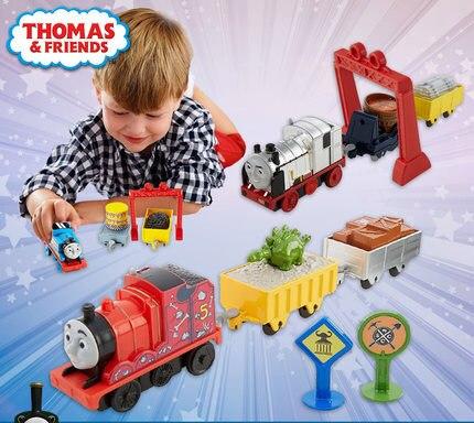 Originais Thomas trem Elétrico Mini Definir Brinquedo Do Menino Carro Divertido Combinação Thomas James Merlin Brinquedos Presente das Crianças