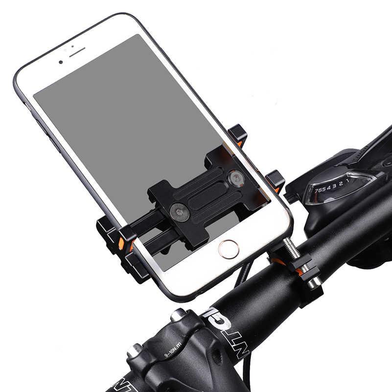 WEST BIKING Bicycle Aluminium Alloy Extender Holder Mountain Bike Mobile Phone Stand GPS/PDA Cycling Bike Holder Bracket