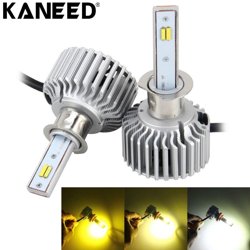 KANEED H1 ampoules de phares LED 2 pièces 26 W 2250LM LED de phare de voiture lumière automatique intégré COB puce LED et fonction CANBUS
