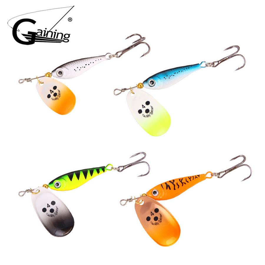 4pcs Metal Hard Bait Sequins Spoon Fishing Lure Spinnerbait Spinners Baits