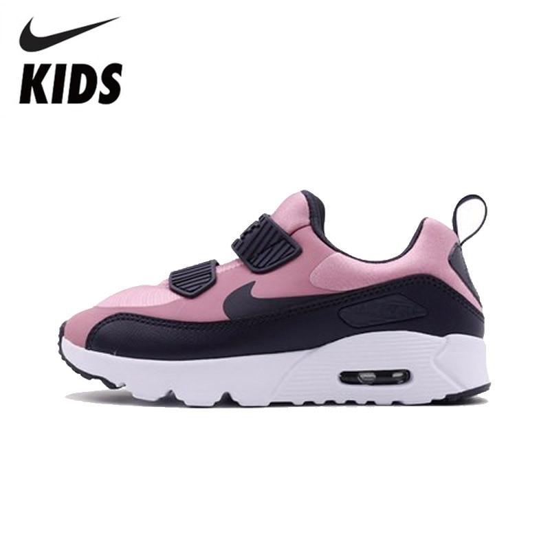 Nike air max 90 crianças originais tênis de corrida casuais confortáveis esportes ao ar livre #881926-602
