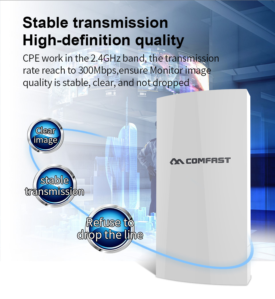 COMFAST CF E130N 1KM 300Mbps 2.4Ghz Outdoor Mini Wireless AP Bridge WIFI CPE Access Point 5dbi WI FI Antenna Nanostation CPE