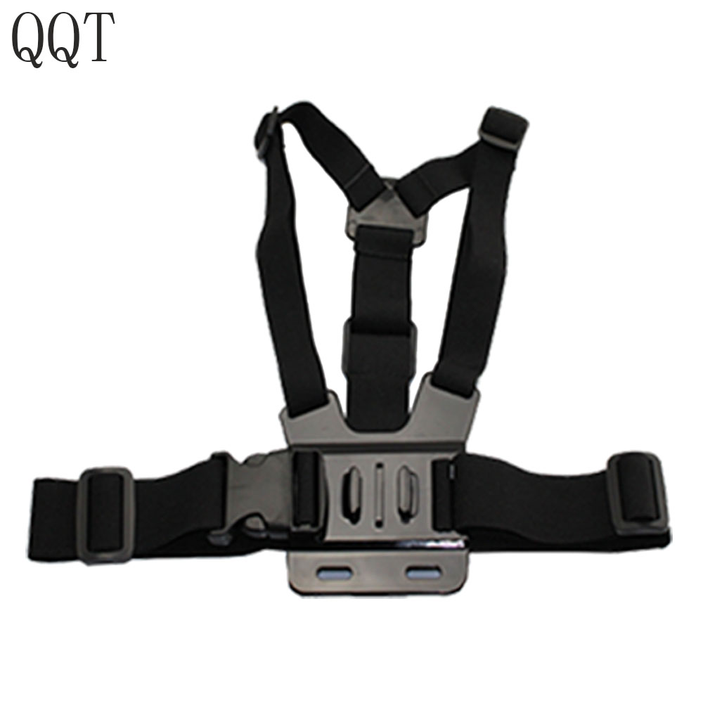 QQT for Gopro hero7 6 5 4 3+ 3 Xiaomi yi 4 K Action camera Busto Mount Harness per Go Pro SJCAM SJ4000 Sports camera accessories